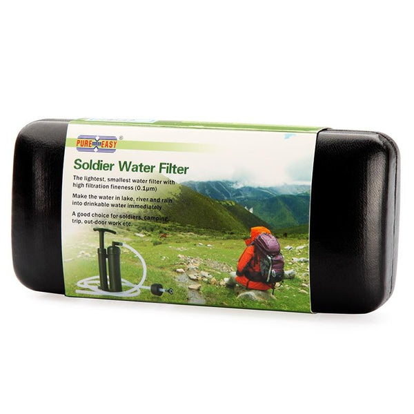Pure Easy Portable 2000L Water Filter Kit Outdoor Camping Hiking Emergency Survival Gear Straw