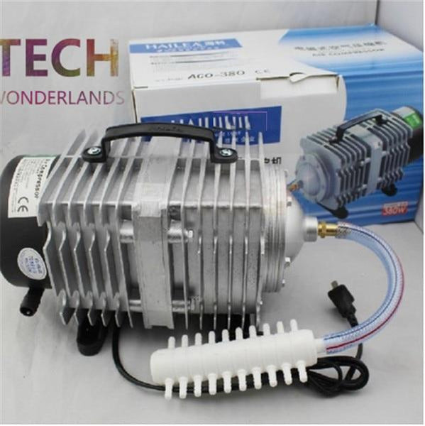 New Aquarium Electromagnetic Air Compressor 70L/min 45W Fish Tank Pump Increasing Oxygen Hailea