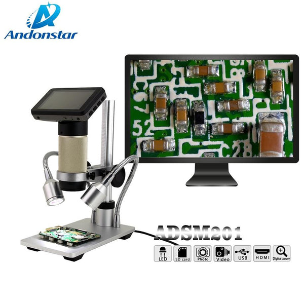 Andonstar Hdmi Microscope Long Object Distance Digital Usb Phone Repair Soldering Watch