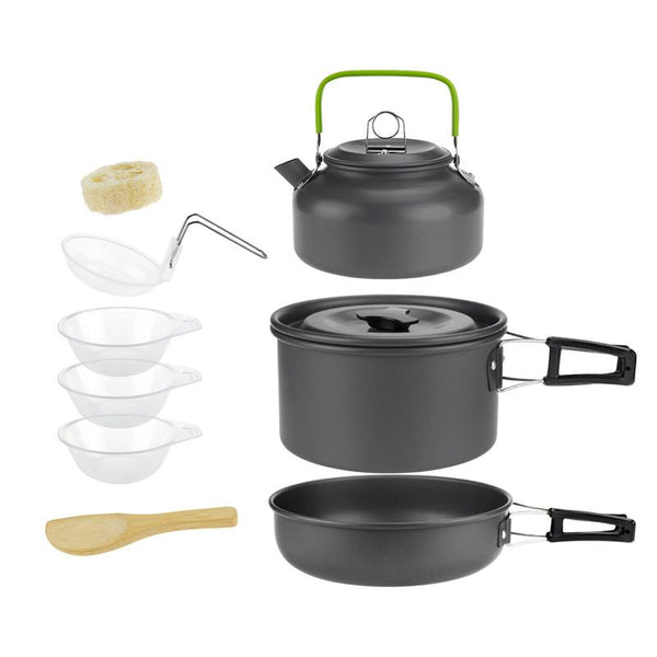 Sunfield Camping Cooking Set Backpack Tableware Outdoor Cookware Pot Picnic Canteen Survival Hiking