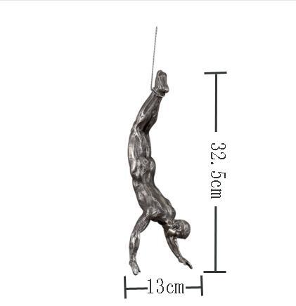 Creative Retro Rock Climbing Figures Resin Sculpture Wall Decorations Pendant Statue A