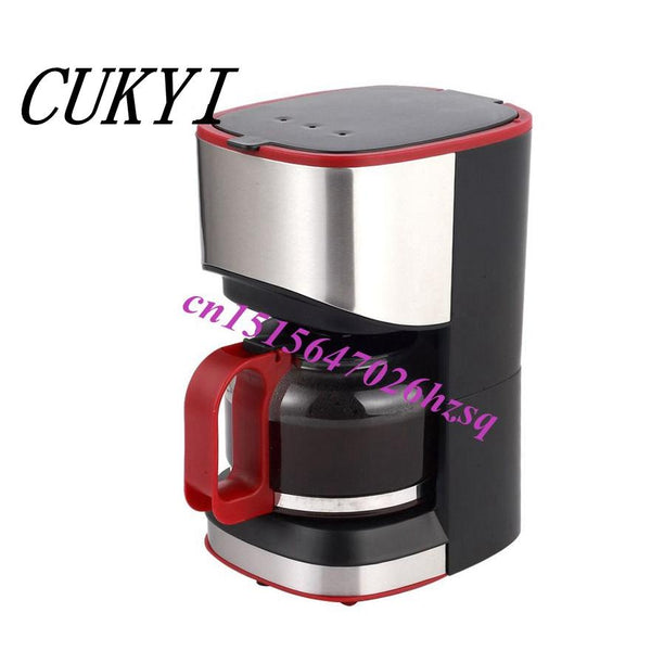 Cukyi American Coffee Maker Household Automatic Drip Machine Pot Boiled Tea Is Special 550W 220V