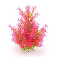 1Pcs Simulering Kunstige Planter Aquarium Decor Vann Ugress Ornament Plant Pink / 36 Cm
