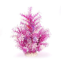 1Pcs Simulering Kunstige Planter Aquarium Decor Vann Ugress Ornament Plant Lilla / 36 Cm