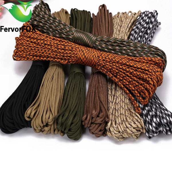 100M Paracord 550 Parachute Cord Lanyard Rope Mil Spec Type Iii 7 Strand Climbing Camping Survival