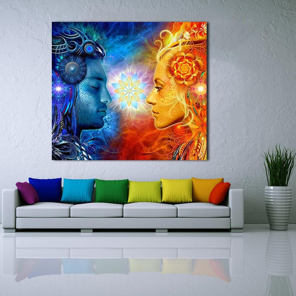 High Quality Canvas Print Tantra Shiva And Shakti Wall Art Picture Home Decor Living Room Modern
