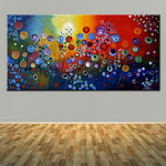 Large Painting Abstract Circle Sharp Canvas Oil Astract Art Wall Picture (Hand Painted!)