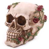 Skull Rose Dangerously Romanttinen rakkaus Skeleton Head Halloween Decor B