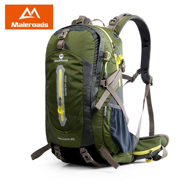 Maleroads Rucksack Camping Hiking Backpack Sports Bag Outdoor Travel Trekk Mountain Climb Equipment