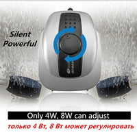 Aquarium Air Pump Oxygen hiljainen kompressori Fish Tank Bubble Water Double Outlet 220-240V