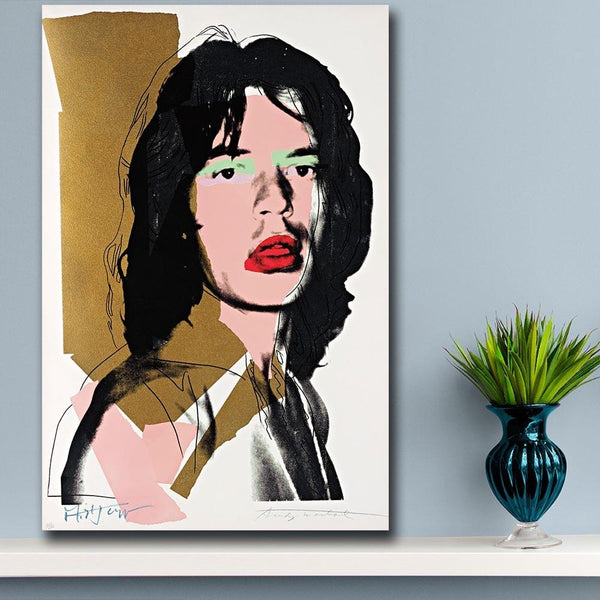 High Quality Canvas Print Pop Art Wall Mick Jagger 3 By Andy Warhol Study Bedroom Decor Oil Painting