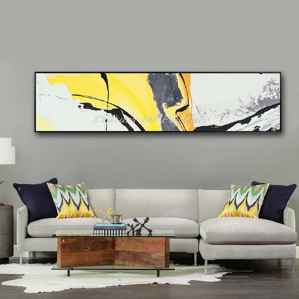 Hand Painted Abstract Oil Painting On Canvas Wall Art Pictures