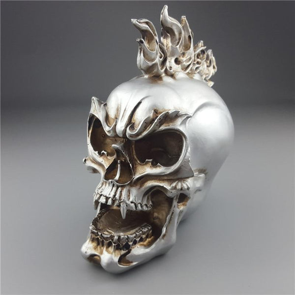 Human Statues Resin Sculptures Silver Personalized Skull Creative Figurines Sculpture