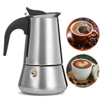 Homeleader Coffee Makers Italiensk Top Moka Espresso Cafeteira Expresso Percolator 100 / 200 / 200 / 450 Ml
