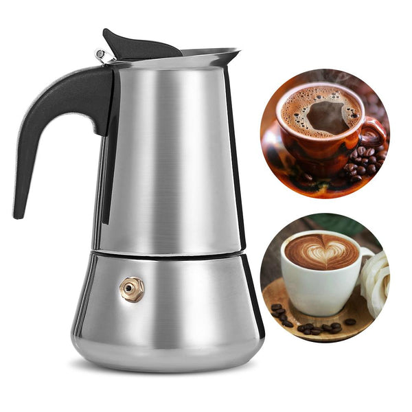 Homeleader Coffee Makers Italian Top Moka Espresso Cafeteira Expresso Percolator 100/200/200/450 Ml