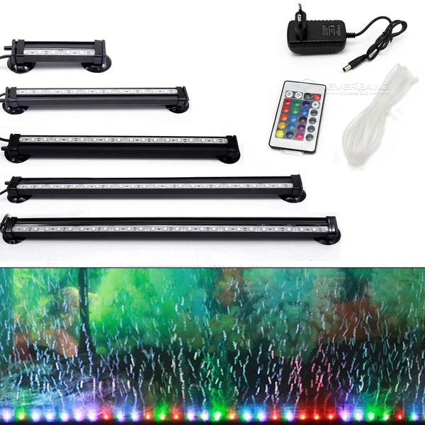 Free Shipping 12-46Cm 5050 Rgb Led Aquarium Light Fish Tank Submersible Aquatic Air Bubble
