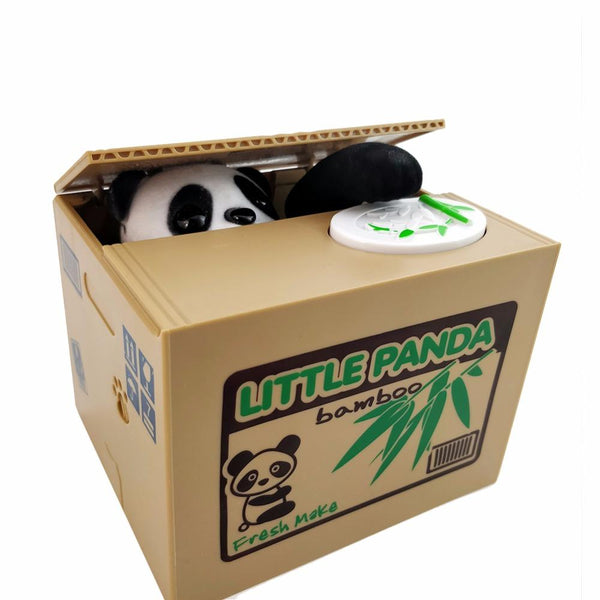 Panda Cat Thief Money Boxes Toy Piggy Banks Gift Kids Automatic Stole Coin Bank Wedding Decoration