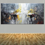Large Size Hand Painted Abstract Impasto Oil Painting On Canvas Wall Picture