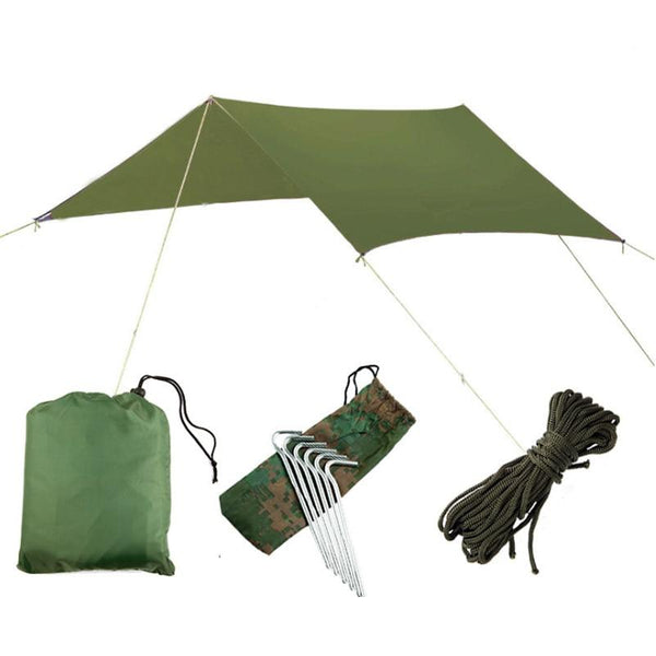3Mx3M Beach Waterproof Anti-Uv Tent Outdoor Camping Climbing Survival Tarp Hammock Rain