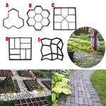 Garden Diy Plastic Path Maker Bestrating Model Concrete Stepping Stone Cement Mold Brick Beste prijs
