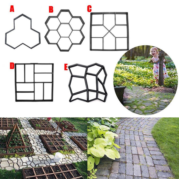 Garden Diy Plastic Path Maker Pavement Model Concrete Stepping Stone Cement Mould Brick Best Price