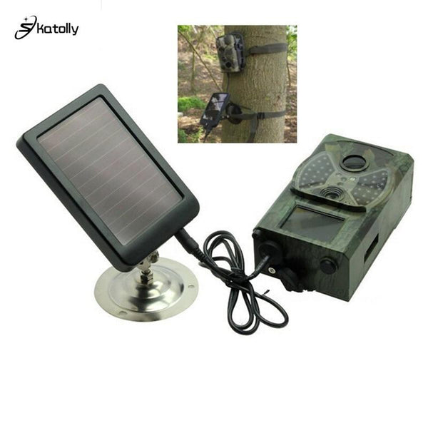 Skatolly Outdoor Solar Panel Charger Us/eu Plug Hunting Trail Camera For Suntek