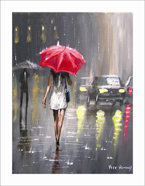 Modern Abstract Painting The Raining Day Canvas Wall Art Decor Oil (Hand Painted!)