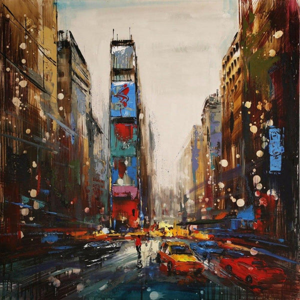 Modern Abstract Canvas Wall Painting City Art Decor Oil