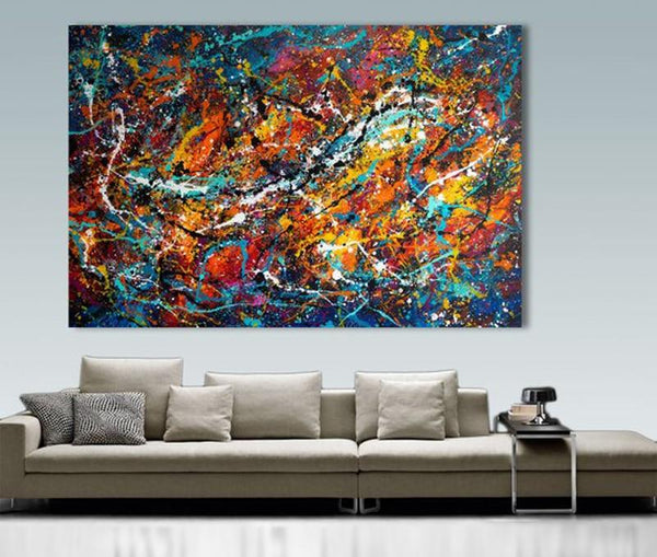 Large Decor Painting Oil Modern Abstract Wall Art (Hand Painted!) Products On Etsy