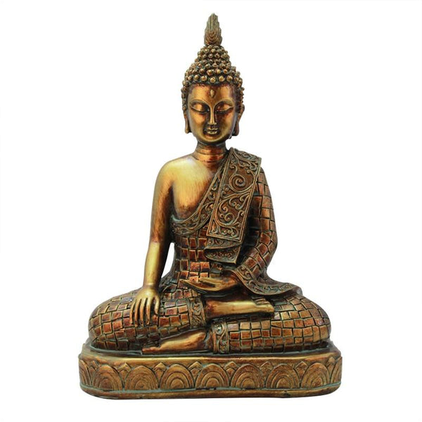 Southeast Asia Tailand Golden Buddha Figurines Decoration Desktop Resin Crafts Vintage