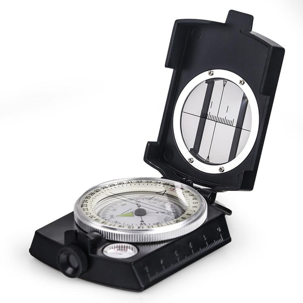 Military Lensatic Compass Survival Handheld Geological Hiking Camping Equipment