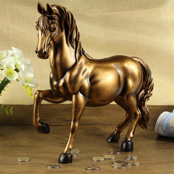 Vintage Horse Statues Figurines Ornaments Horses Crafts Money Boxes Home Decoration