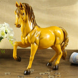 Vintage Horse Statues Figurines Ornaments Heste Crafts Money Boxes Home Decoration Yellow