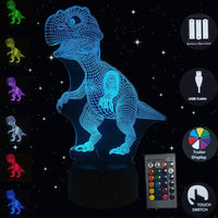 3D Illusion Led Lampe Dinosaurier 7 Farbe Lampe Dekoration Tier Nachtlicht Touch Sleeping
