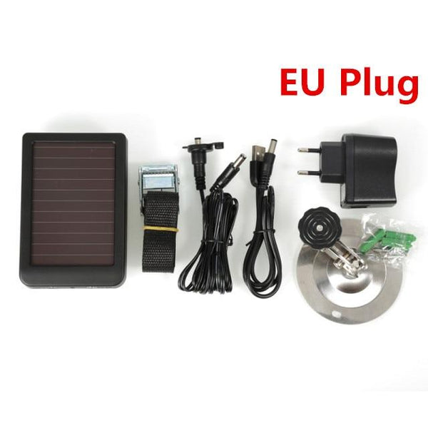 Hc300M Hc550M/g Photo-Traps Hunting Game Camera Battery Solar Panel Charger External Power Eu Plug