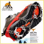 Quality Outdoor Climbing Antiskid Winter Walk 18 Teeth Ice Fishing Snowshoes Manganese Steel Slip