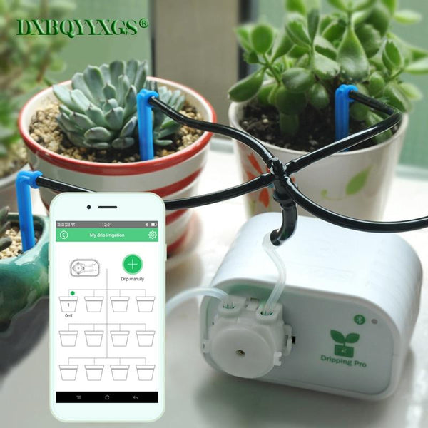 Mobile Phone Control Intelligent Garden Automatic Watering Device Succulents Plant Drip Irrigation