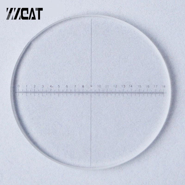 Optical Glass Calibration Slides Div 0.1Mm Eyepiece Reticle Micrometer Area Measuring Ruler Ocular