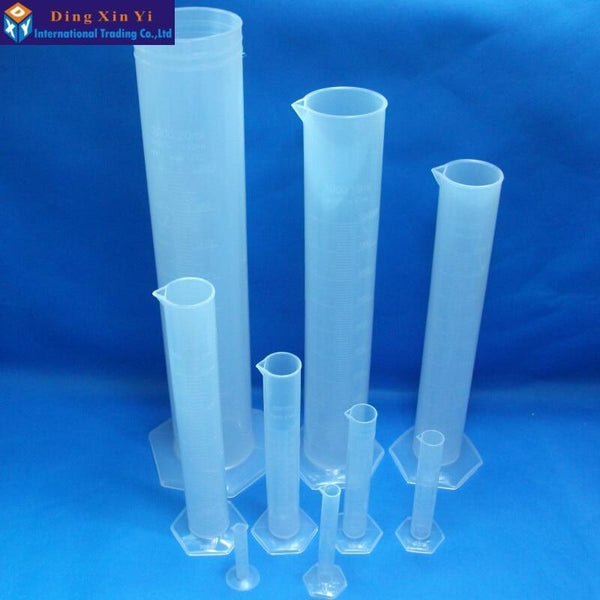 1Pcs Plastic Measuring Cylinder Graduated Cylinders For Lab Supplies Laboratory Tools School