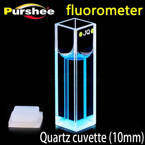 Standard Quartz Fluorescence Cell With Lid(10Mm) Cuvette Four Surfaces Are Transparent High