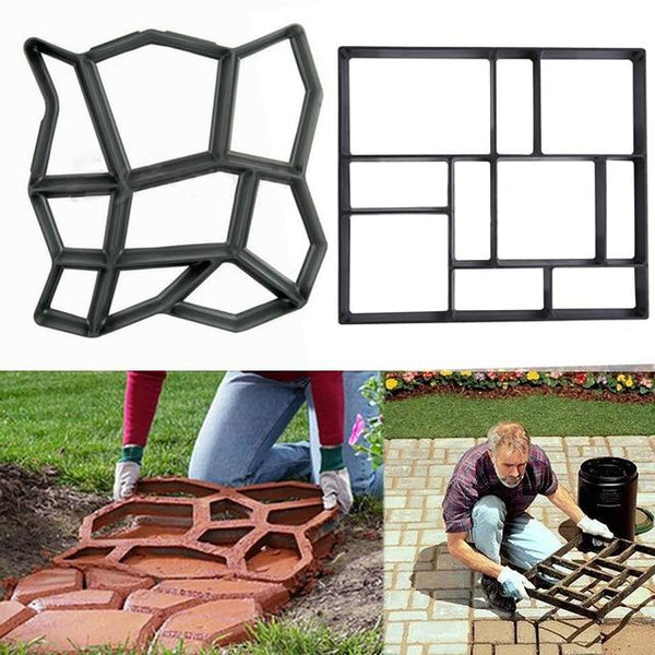 Diy Plastic Path Maker Mold Manually Paving Cement Brick Molds Garden Stone Road Concrete Pavement