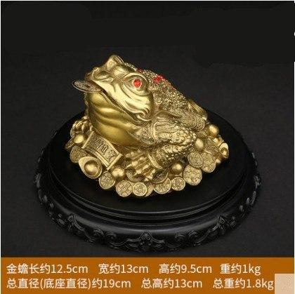 Pure Copper Feng Shui Golden Tripod Toad Lucky Statue Frog Which Wealth Big