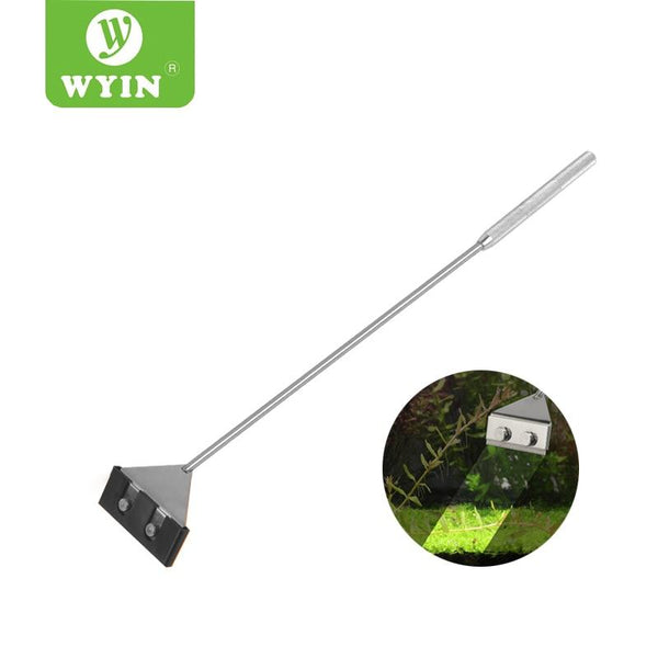 Wyin Stainless Steel Aquarium Fish Tank Algae Scraper Blade Aquatic Water Live Plant Grass Cleaning