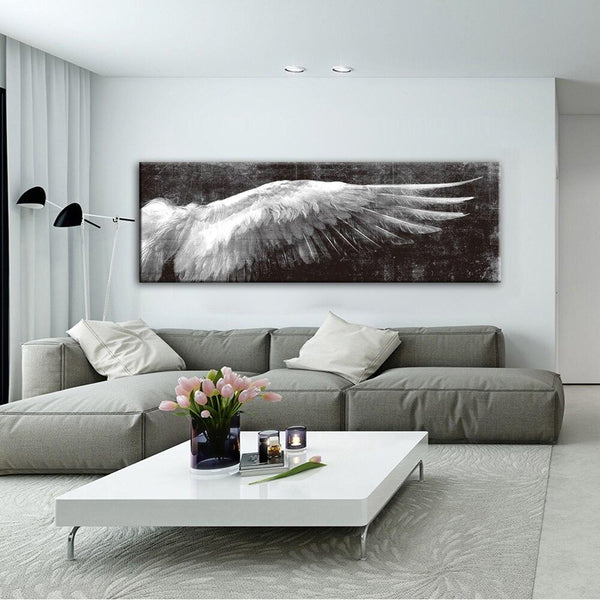 Angel Wings Vintage Wall Posters And Prints Black White Art Canvas Paintings Pop