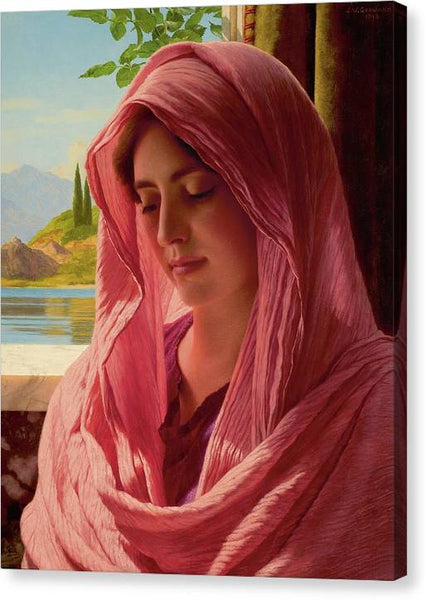John William Godward Pyrallis 1918 - HQ Canvas Print ready to hang