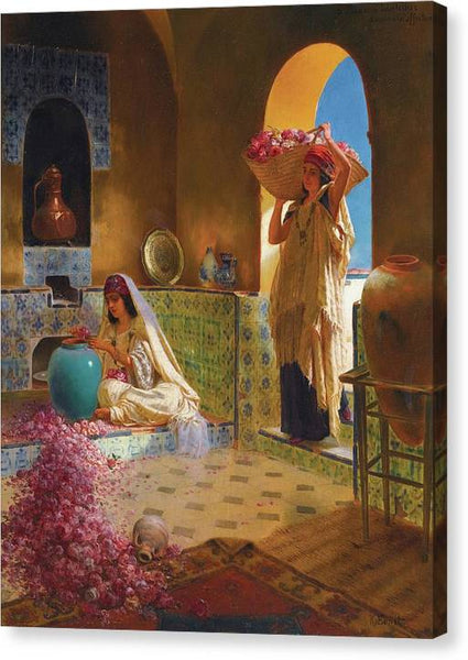 Rudolf Ernst The Perfume Makers ca 1900 - Stretched Canvas Print Ready to Hang