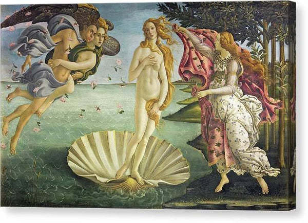 Sandro Botticelli Birth Of Venus 1485 - Stretched Canvas Print Ready to Hang