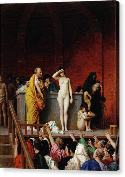 Slave Market in Ancient Rome 1884 - HQ Canvas Print ready to hang