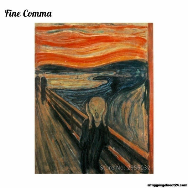 The Scream 1893 By Edvard Munch Canvas Painting Wall Art Pictures Hand Painted Oil Paintings