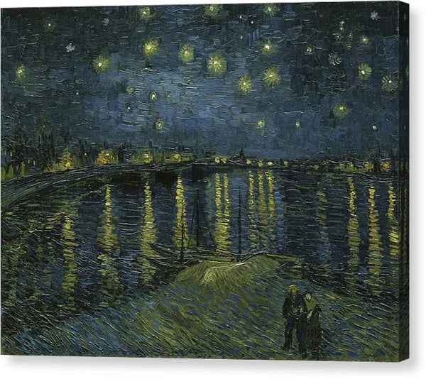 van Gogh Starry Night 1888 - Stretched Canvas Print Ready to Hang